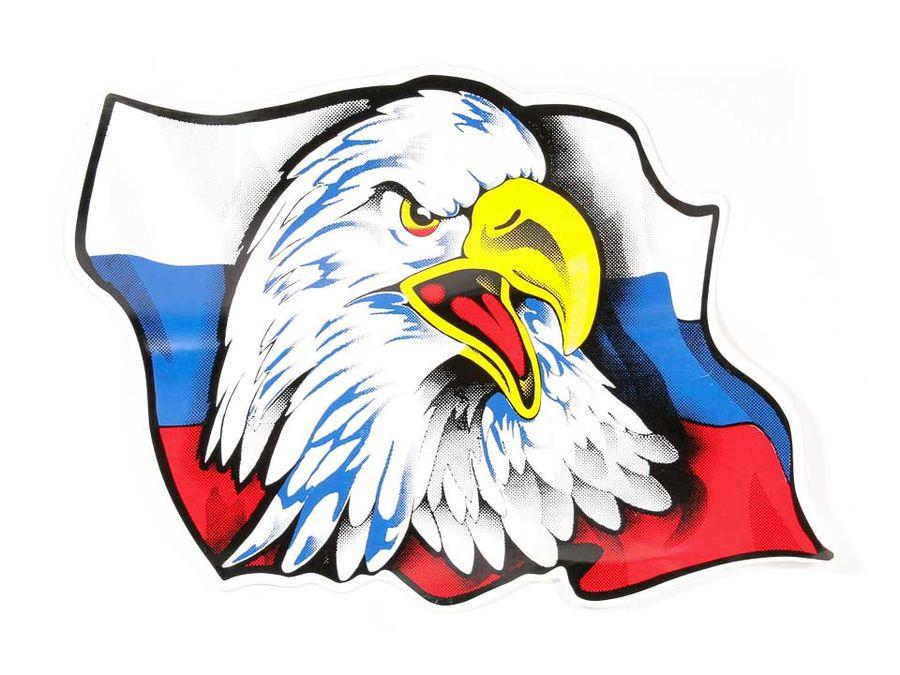"""Наклейка """"Орел на флаге"""""""