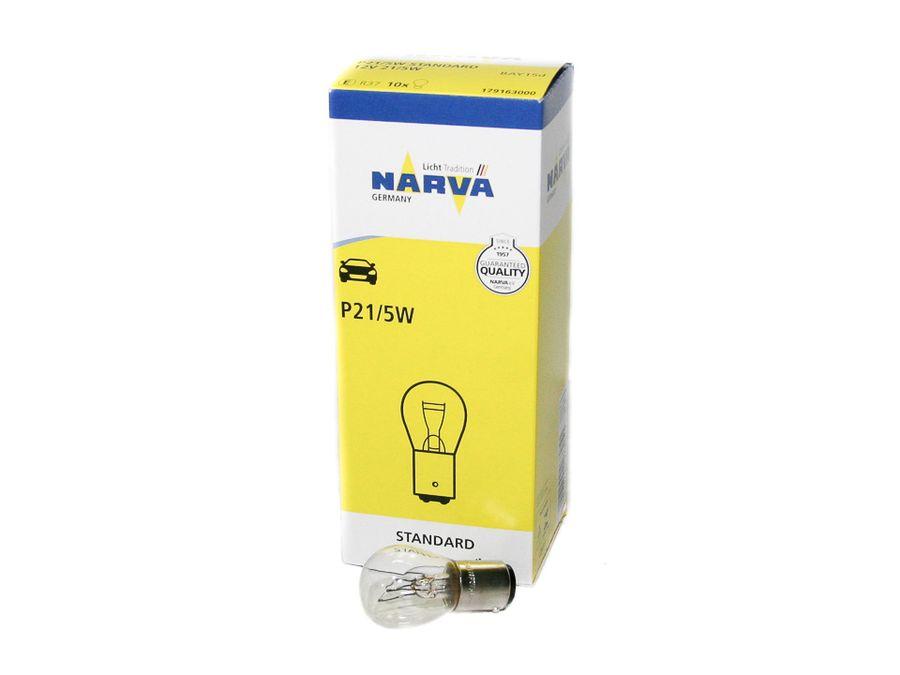 "Лампа А 12-21-5-2 конт. P21/5W 12V (стоп-сигналы, габариты) ""Narva"""