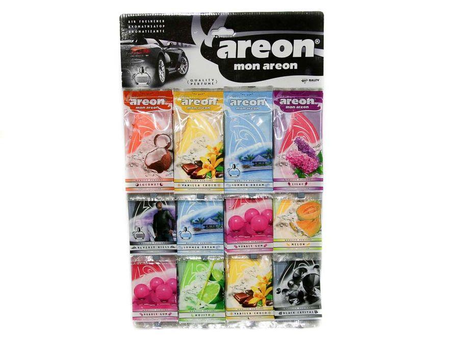 "Ароматизатор MIX планшет (60шт) подвесной картонный ""AREON MON AREON"" Delicious (парус)"
