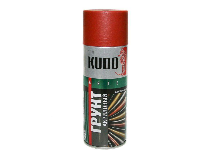 """Грунт спрей """"KUDO"""" акриловый красно-коричневый (520мл)"""