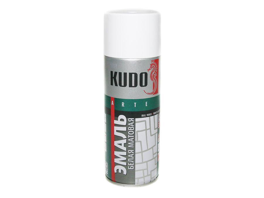 """Краска спрей """"KUDO"""" белая матовая (520мл)"""