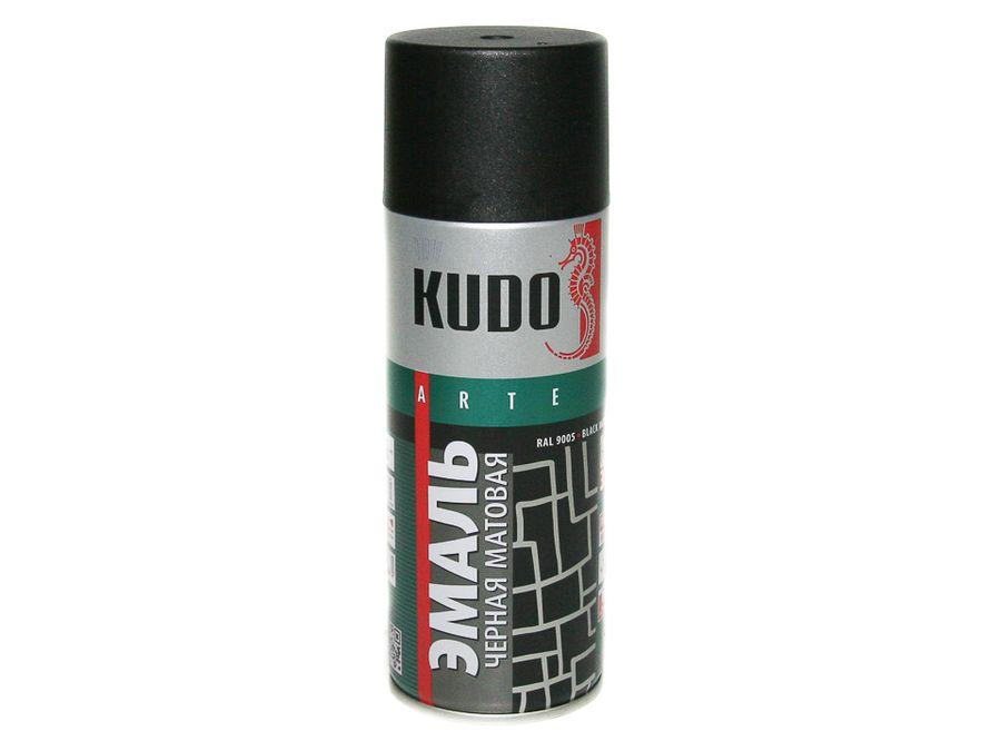 """Краска спрей """"KUDO"""" чёрная матовая (520мл)"""