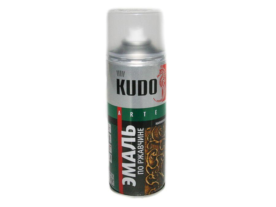 """Краска спрей """"KUDO"""" (молотковая) серебро (520 мл)"""